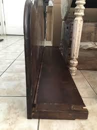 diy antique bed frame to old chippy mantle