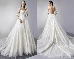 enzoani bridal discount detachable sleeves lace wedding dresses 2018