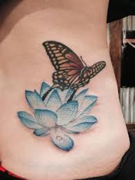 image result for lotus with butterfly ink