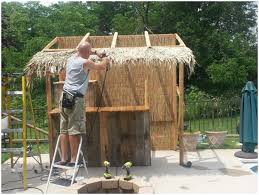 Backyards  Amazing Diy Tiki Hut Modern Ideas  Backyard - Tiki backyard designs