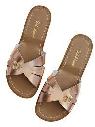 salt water sandals womens classic slide rose gold u2013 lalt collective