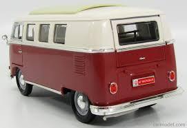 volkswagen microbus lucky diecast ldc92328br scale 1 18 volkswagen microbus 1962 red