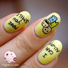 piggieluv i can always make you smile happy nail art