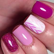 pink and white nail design for short nails white nail designs