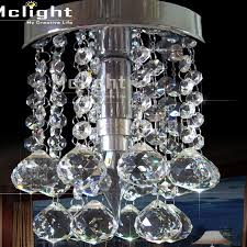 Chandelier Bathroom Lighting Modern Gold Crystal Chandelier Light Fixture Lustre Bathroom Lamp