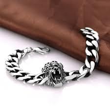 bracelet man silver stainless steel images Punk rock men 39 s skeleton skull stainless steel bracelets party jpg