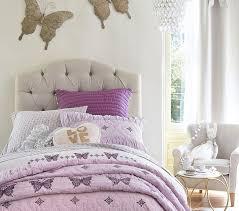 eliza tufted upholstered bed u0026 headboard pottery barn kids