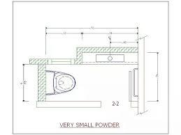 Narrow Powder Room - small powder room floor plans home design inspirations