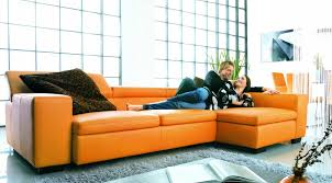 orange leather sectional sofa orange leather sofa jpg endearing contemporary sofas and chair