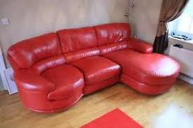 Cheap Red Leather Sofas by Dfs Leather Sofa Ebay