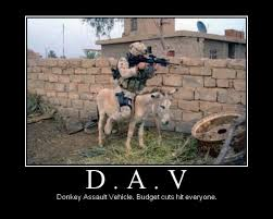 donkey assault vehicle military humor