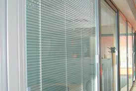 patio doors unforgettable single with built in blinds blind
