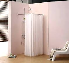 shower curtain ideas for small bathrooms corner shower ideas shower curtain rod for corner shower curved