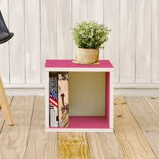 storage cubes in pink and stackable cubby bookcase way basics