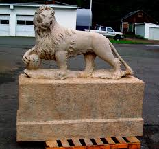 Outdoor Lion Statue by Sculpture Material Choices Skylight Studios Inc