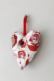 Fabric Heart Decorations Christmas Decorations Norwich Seamless And Ginger