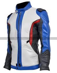 blue motorcycle jacket soldier 76 overwatch motorcycle jacket