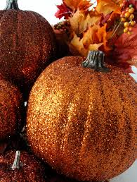 Halloween And Fall Decorations - glitter pumpkins two sisters crafting