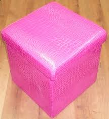 fuschia chair multi purpose crocodile folding ottoman storage box chair in