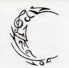 celtic moon design fantastic moon design crescent moon