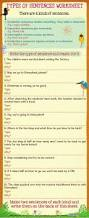 types of sentences worksheet for kids mocomi