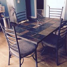 Find More Kitchen Table With  Chairs Slate Tile Top For Sale At - Tile top kitchen table and chairs