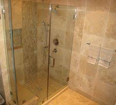 medium square travertine tile shower not a huge fan master