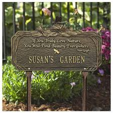 memorial markers dragonfly nature poem garden marker personalized wh 1705