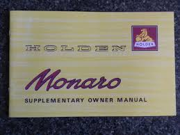 holden 1968 hk monaro u0027 u0027supplementary u0027 u0027 owners manual 100