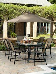 Outdoor Furniture At Sears by Garden Oasis Harrison 7 Piece Sling High Dining Set Limited