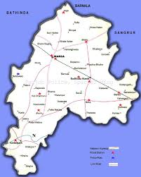 Punjab Map Punjab Police Map Of Mansa District