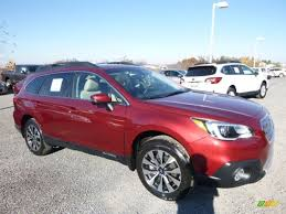 red subaru outback 2017 venetian red pearl subaru outback 2 5i limited 117091506