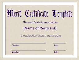 merit certificate template top 5 free merit certificate templates