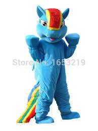 My Little Pony Halloween Costume Rainbow Dash Mascot Costume Pegasus Pony Costume From My