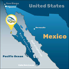 Tijuana Mexico Map Cedros Kayak Fishing Baja Map Cedros Island Kayak Fishing Tours