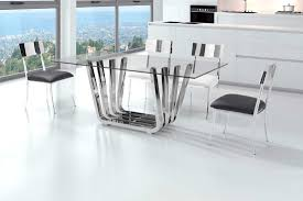 glass and chrome dining table glass dining table with chrome base z325 modern dining