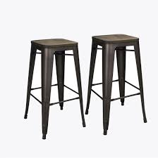 bronze 30 inch metal tolix style industrial counter chair