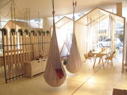 House Features Fun House Modern Play Space Features Wooden Swings