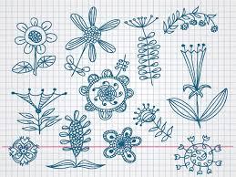 doodle vectors free flower doodle vectors free vector 365psd