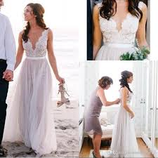 discount best selling boho beach a line wedding dresses elegant