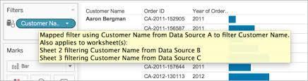 filter data across multiple data sources