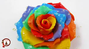 multicolored roses rainbow roses out of gumpaste