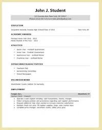 resume template for high student for college college student resume templates microsoft word template business
