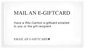 e giftcard hotel gift cards from the ritz carlton