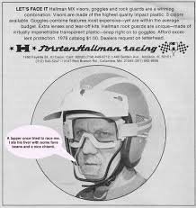 motocross helmet with face shield check out this crazy thor hallman face shield from 1976 moto