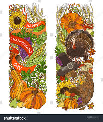 turkey ornaments thanksgiving colourful thanksgiving vertical ornaments isolated on stock