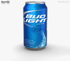 bud light beer can budlight beer can 330 ml 3d model hum3d