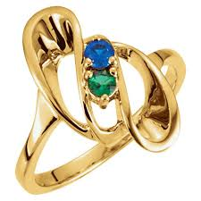 7 mothers ring gold 1 to 7 stones s ring