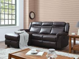 lolet canapé canapé d angle relax chelsea 3 places marron 93373
