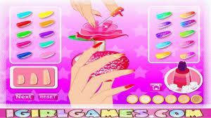 barbie bling bling nail art barbie nails art game youtube